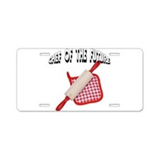 Baking Chef Of The Future Aluminum License Plate