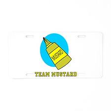 Team Mustard Aluminum License Plate