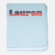American Lauren baby blanket