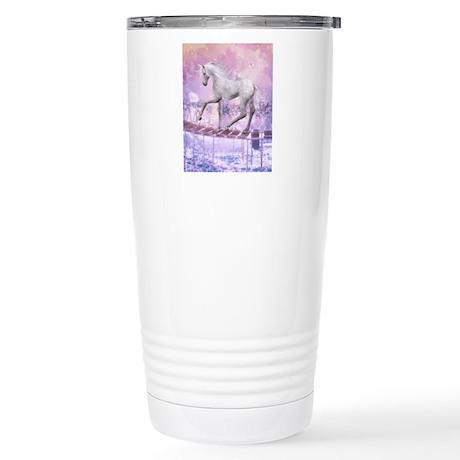 pink unicorn Stainless Steel Travel Mug