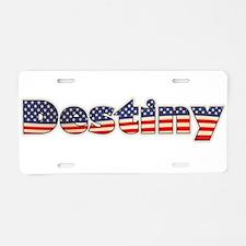 American Destiny Aluminum License Plate