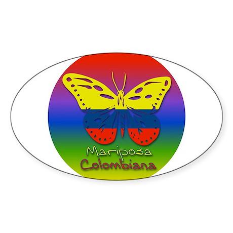 Mariposa Colombiana Oval Sticker
