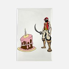 Pirate and Birthday Cake Rectangle Magnet