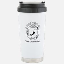 I Got High Zip (Personalized) Travel Mug