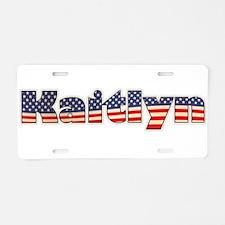 American Kaitlyn Aluminum License Plate