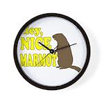Lebowski: Nice Marmot! Wall Clock