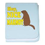Lebowski: Nice Marmot! baby blanket