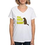 Lebowski: Nice Marmot! Women's V-Neck T-Shirt