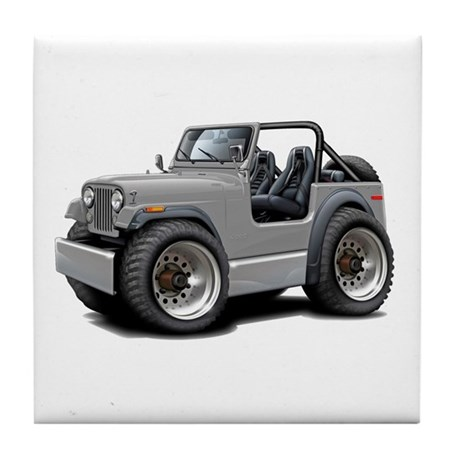Jeep Silver Tile Coaster