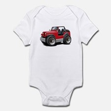 Jeep Red Infant Bodysuit