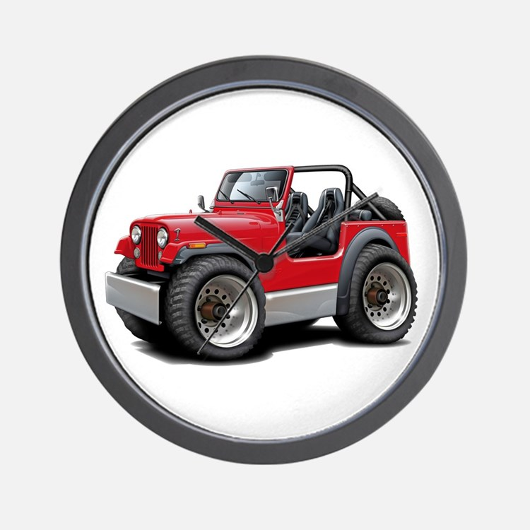 Jeep Red Wall Clock
