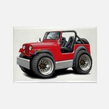 Jeep Red Rectangle Magnet