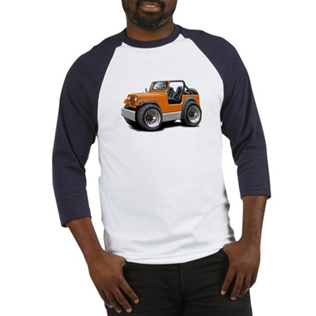 Jeep Orange Baseball Jersey