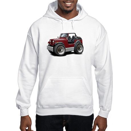 Jeep Maroon Hooded Sweatshirt