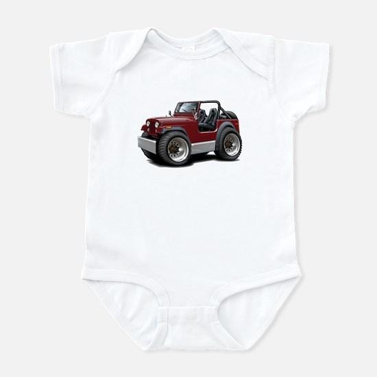 Jeep Maroon Infant Bodysuit