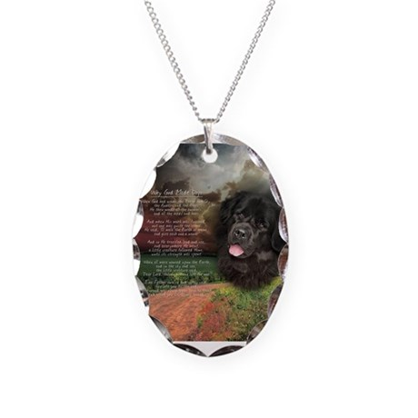 """""""Why God Made Dogs"""" Newfoundland Necklace Oval Cha"""
