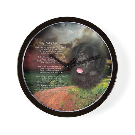 """Why God Made Dogs"" Newfoundland Wall Clock"