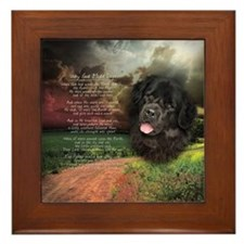 """Why God Made Dogs"" Newfoundland Framed Tile"