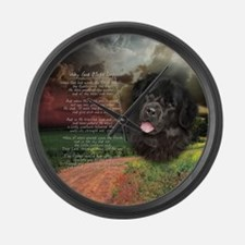 """Why God Made Dogs"" Newfoundland Large Wall Clock"