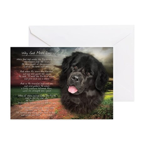 """Why God Made Dogs"" Newfoundland Greeting Cards (P"