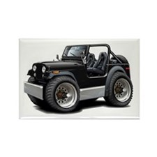 Jeep Black Rectangle Magnet