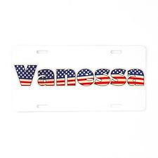 American Vanessa Aluminum License Plate