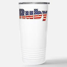 American Ruby Stainless Steel Travel Mug