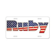 American Ruby Aluminum License Plate