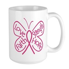 Breast Cancer Butterfly Hope Mug