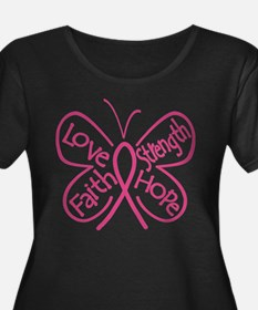 Breast Cancer Butterfly Hope T