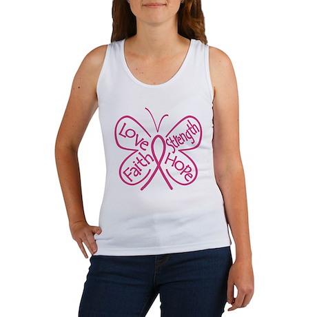 Breast Cancer Butterfly Hope Women's Tank Top