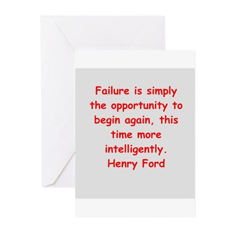 Henry Ford quotes Greeting Cards (Pk of 20)
