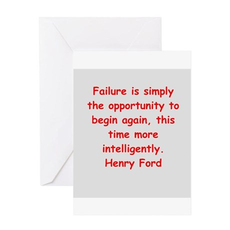 Henry Ford quotes Greeting Card