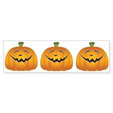 Halloween pumpkin grin Bumper Sticker
