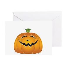 Halloween pumpkin grin Greeting Card