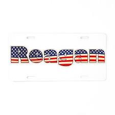 American Reagan Aluminum License Plate