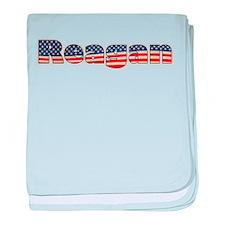 American Reagan baby blanket