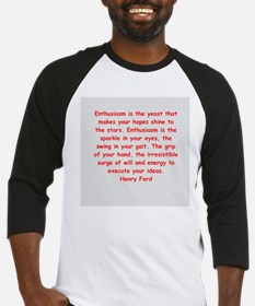 Henry Ford quotes Baseball Jersey