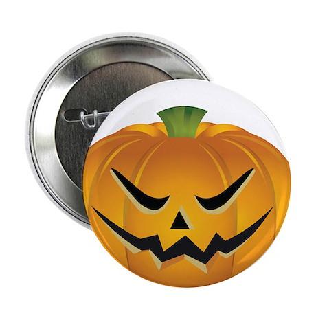 """Evil Halloween pumpkin 2.25"""" Button"""
