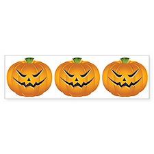 Evil Halloween pumpkin Bumper Sticker