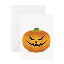 Evil Halloween pumpkin Greeting Card