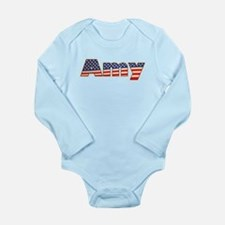 American Amy Long Sleeve Infant Bodysuit