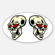Red Eyed Skulls Decal