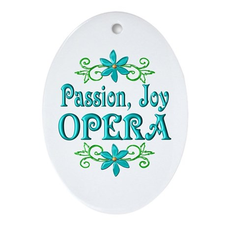Opera Joy Ornament (Oval)