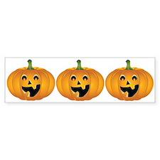 Happy Halloween pumpkin Bumper Sticker