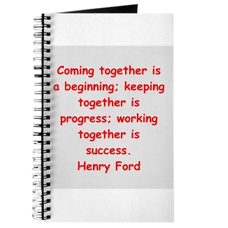 Henry Ford quotes Journal