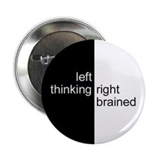 Left-Thinking, Right-Brained Button