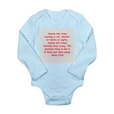Henry Ford quotes Long Sleeve Infant Bodysuit