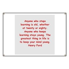 Henry Ford quotes Banner