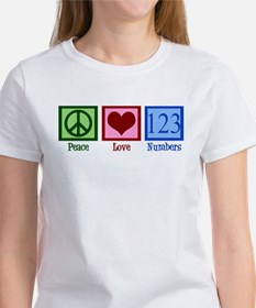Peace Love Numbers Women's T-Shirt